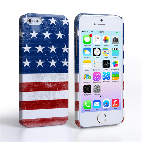 Caseflex iPhone 5 / 5S Retro USA Flag Case