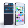 Caseflex iPhone SE Fairisle Case – Grey and Blue Half Pattern