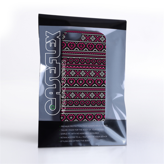 Caseflex iPhone 5/5S Fairisle Case – Pink and Black