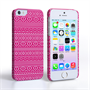Caseflex iPhone 5/5S Fairisle Case – Pink and White
