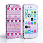 Caseflex iPhone SE Fairisle Case – Pink Skull White Background