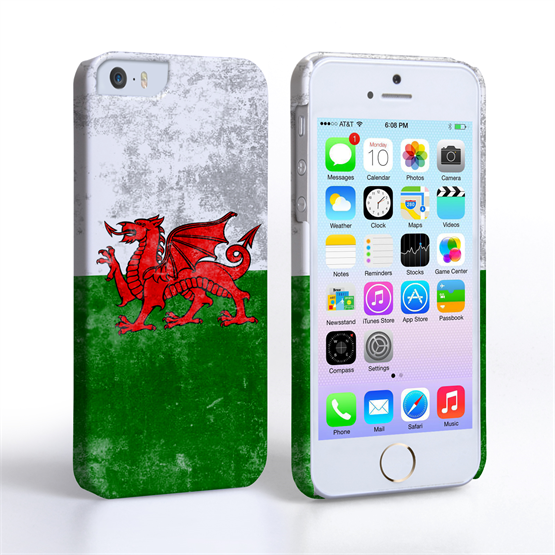 Caseflex iPhone 5/5s Retro Wales Flag Case