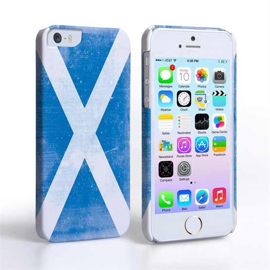Caseflex iPhone SE Retro Scotland Flag Case