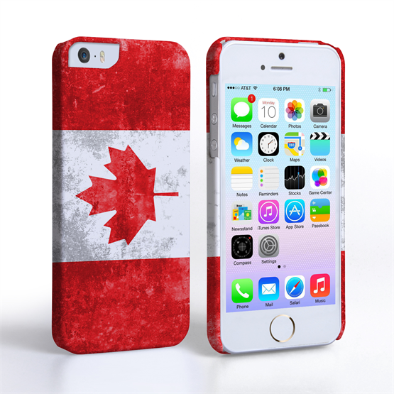 Caseflex iPhone 5/5s Retro Canada Flag Case