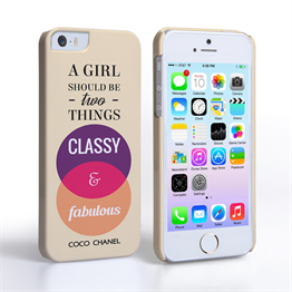 Caseflex iPhone SE Chanel 'Classy and Fabulous' Quote Case