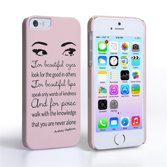Caseflex iPhone 5/5s Audrey Hepburn 'Eyes' Quote Case