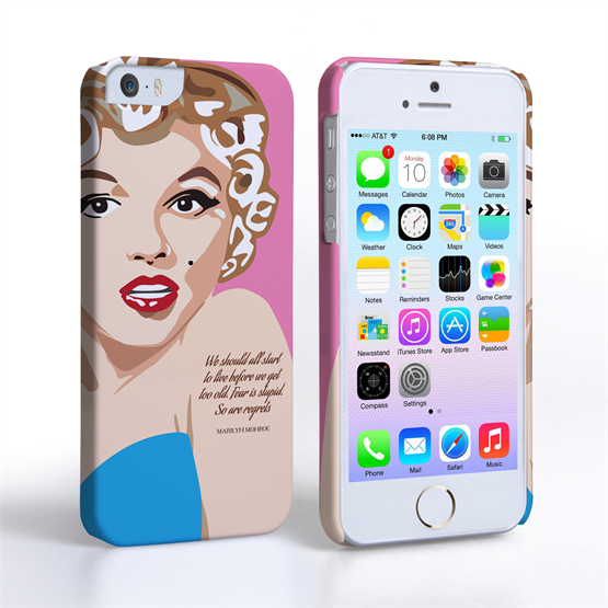 Caseflex iPhone 5/5s Marilyn Monroe 'Fear is Stupid' Quote Case
