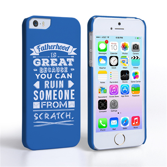 Caseflex Fatherhood Funny Quote iPhone 5 / 5S Case – Blue