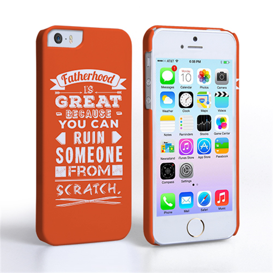 Caseflex Fatherhood Funny Quote iPhone 5 / 5S Case – Orange