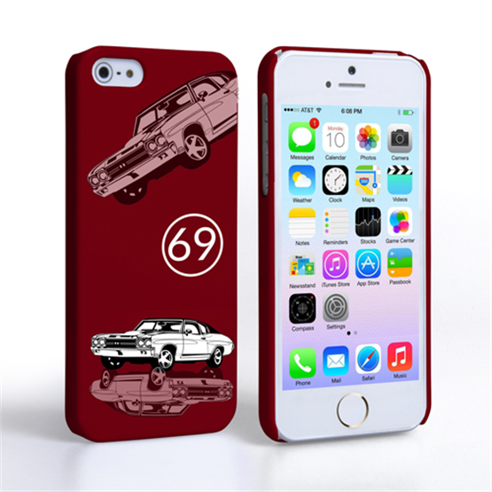 Caseflex Chevrolet Chevelle Classic Car iPhone 5 / 5S Case- Burgundy