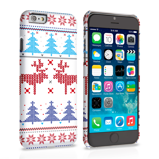 Caseflex iPhone 6 and 6s Christmas Heart Reindeer Tree Jumper Hard Case