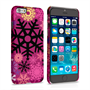 Caseflex iPhone 6 and 6s Christmas Winter Snowflake Hard Case - Burgundy