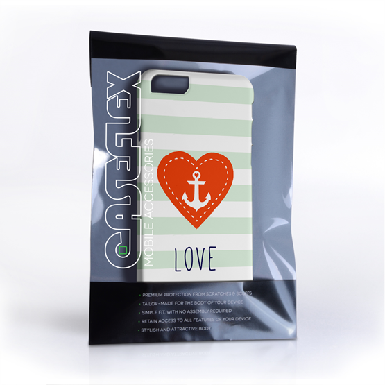 Caseflex iPhone 6 and 6s Anchor Love Heart Case