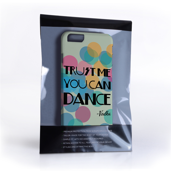 Caseflex iPhone 6 and 6s Vodka Dance Quote Hard Case – Green