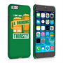 Caseflex iPhone 6 and 6s 'Really Thirsty' Quote Hard Case – Green