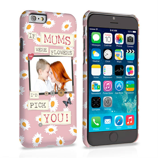 Caseflex iPhone 6 and 6s 'If Mums Were Flowers' Personalised Hard Case – Pink