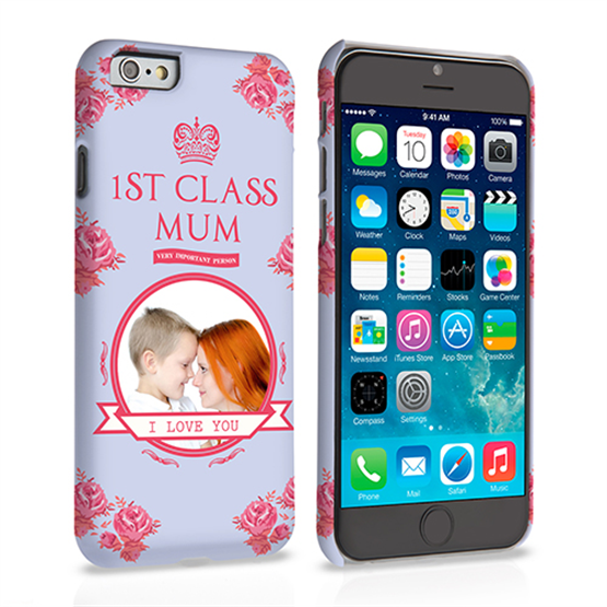Caseflex iPhone 6 and 6s '1st Class Mum' Vintage Floral Hard Case