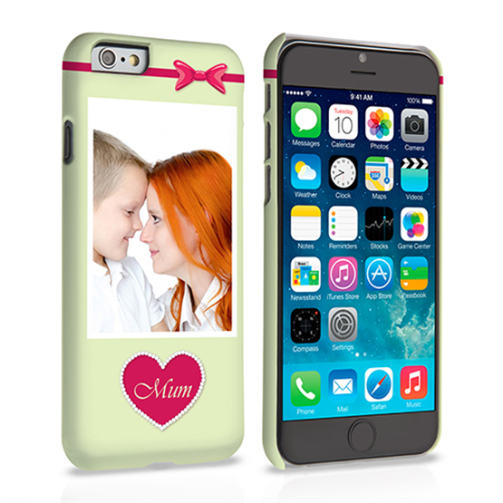 Caseflex iPhone 6 and 6s Mum Heart Personalised Hard Case – Pink