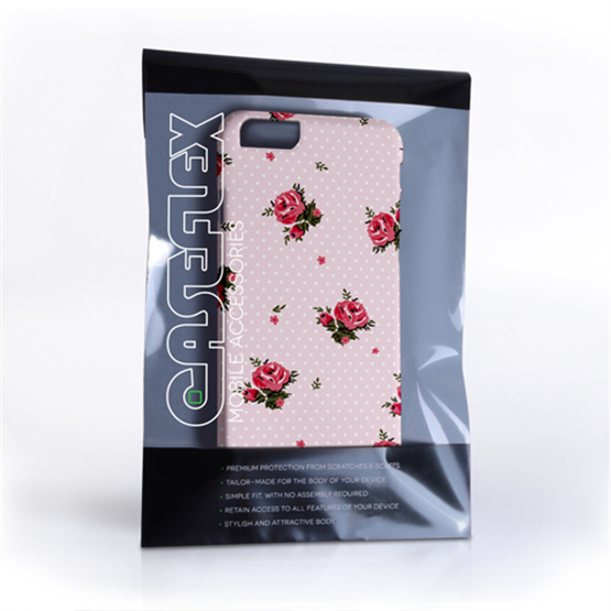 Caseflex iPhone 6 and 6s Vintage Roses Polka Dot Wallpaper Hard Case – Pink