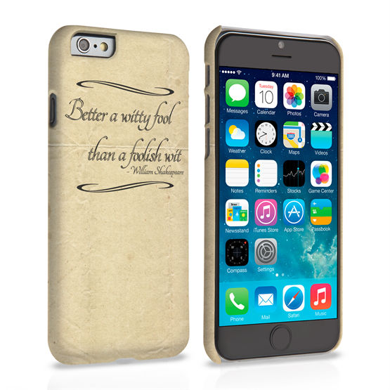 Caseflex iPhone 6 and 6s Shakespeare Quote Case