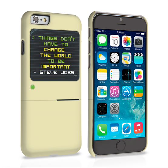 Caseflex iPhone 6 and 6s Steve Jobs Quote Case