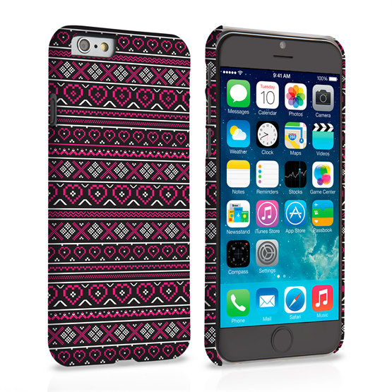 Caseflex iPhone 6 and 6s Case Fair Isle Heart Case - Red