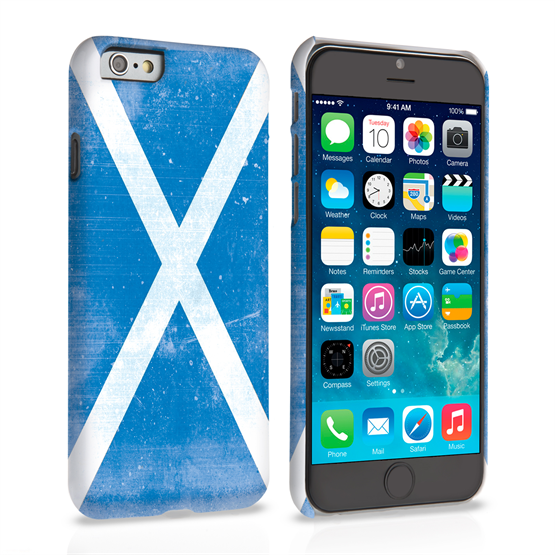 Caseflex iPhone 6 and 6s Retro Scotland Flag Case