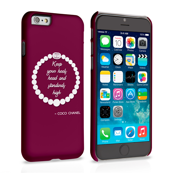 Caseflex iPhone 6 and 6s Chanel Diamond & Pearls Quote Case