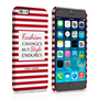 Caseflex iPhone 6 and 6s Chanel 'Fashion Changes' Quote Case – Red and White