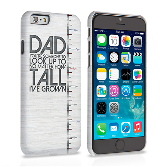 Caseflex iPhone 6 and 6s Dad Growing Up Quote Case/Cover