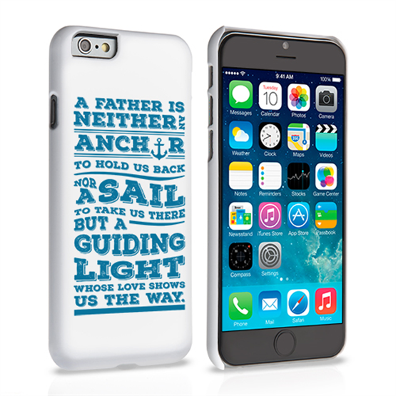 Caseflex Father Sail Quote iPhone 6 and 6s Case