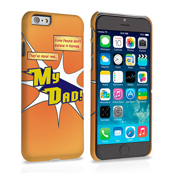 Caseflex My Dad Hero Cartoon iPhone 6 and 6s Case – Orange