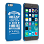 Caseflex Fatherhood Funny Quote iPhone 6 and 6s Case – Blue