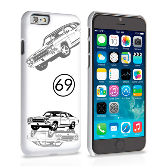 Caseflex Chevrolet Chevelle Classic Car iPhone 6 and 6s Case- White
