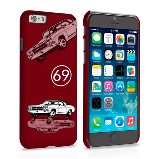 Caseflex Chevrolet Chevelle Classic Car iPhone 6 and 6s Case- Burgundy