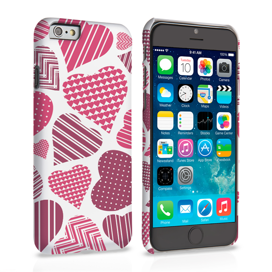 Caseflex iPhone 6 and 6S Love Heart Pattern Case