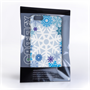 Caseflex iPhone 6 Plus and 6s Plus Winter Christmas Snowflake Hard Case - White / Blue