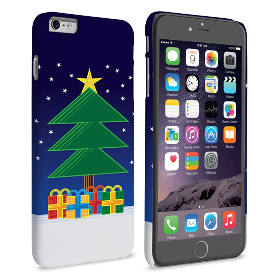 Caseflex iPhone 6 Plus and 6s Plus Christmas Night Tree & Presents Hard Case