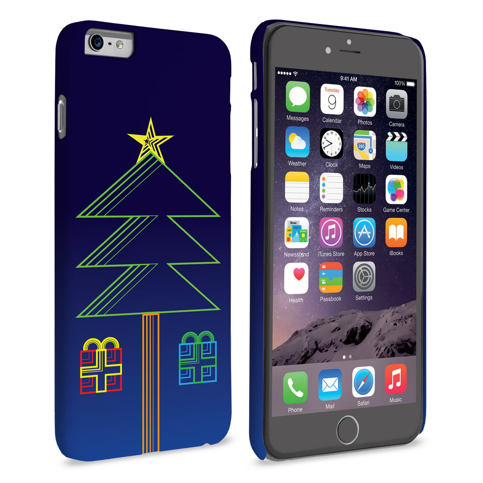 Iphone 6 Plus Christmas Case.Caseflex Iphone 6 Plus And 6s Plus Christmas Tree Presents Hard Case
