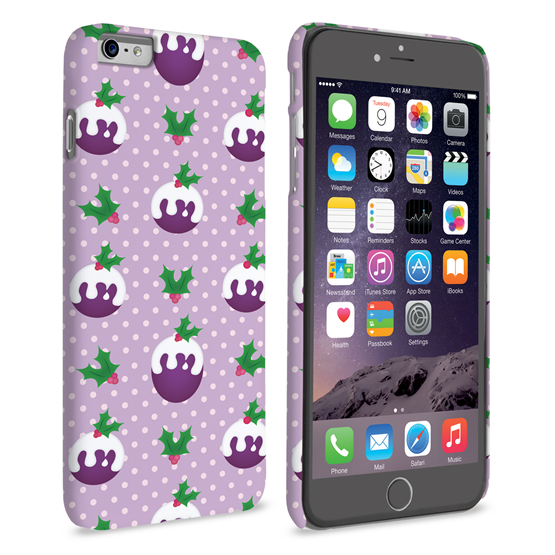 Caseflex iPhone 6 Plus and 6s Plus Christmas Pudding Hard Case - Purple