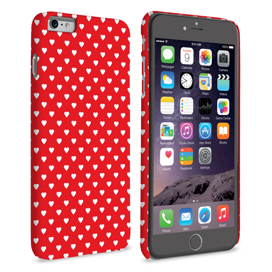 Caseflex iPhone 6 Plus and 6s Plus Cute Hearts Case - Red