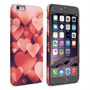 Caseflex iPhone 6 Plus and 6s Plus Shimmering Hearts Case - Red