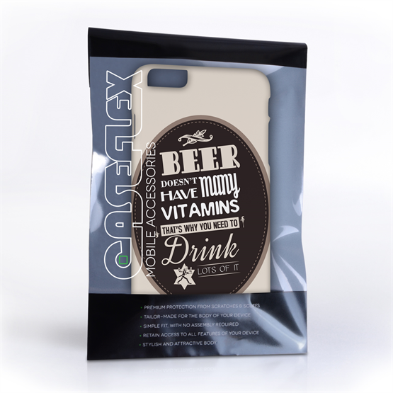 Caseflex iPhone 6 Plus and 6s Plus Beer Label Quote Hard Case – Brown