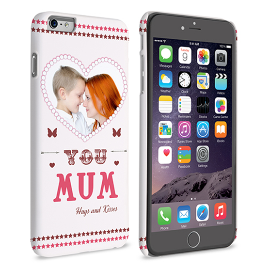Caseflex iPhone 6 and 6s Plus 'Love You Mum' Personalised Hard Case – Pink