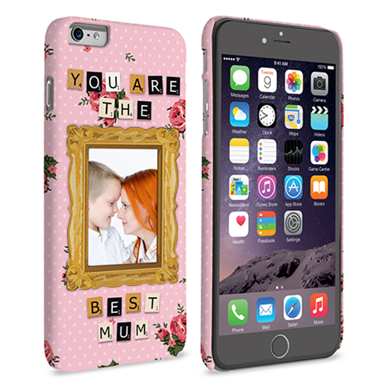 Caseflex iPhone 6 and 6s Plus 'You are the best Mum' Personalised Hard Case – Pink