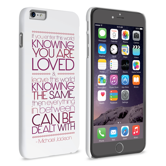 Caseflex iPhone 6 Plus and 6s Plus Michael Jackson Quote Case