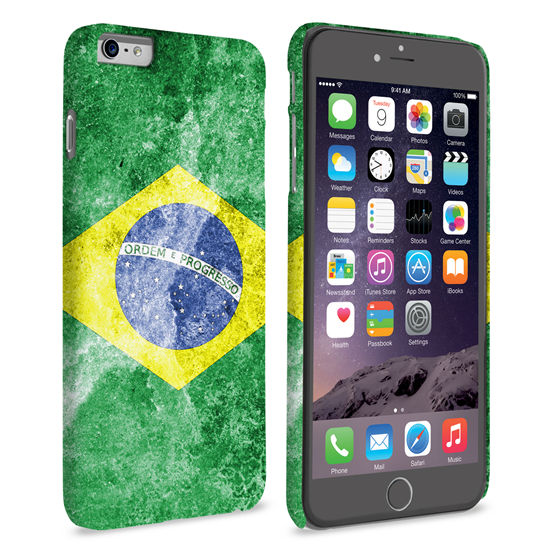 Caseflex iPhone 6 Plus and 6s Plus Retro Brazil Flag Case