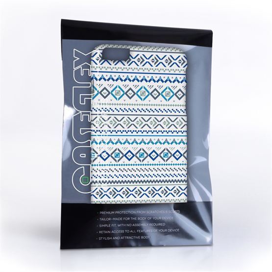 Caseflex iPhone 6 and 6s Plus Fairisle Case – Blue with White Background