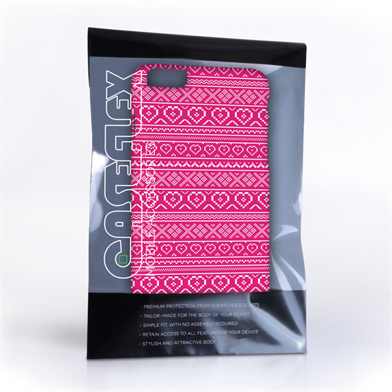 Caseflex iPhone 6 and 6s Plus Fairisle Case – Pink and White