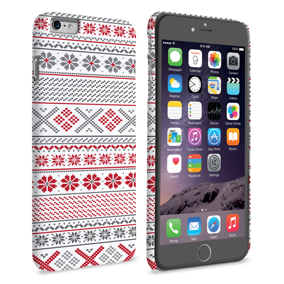 Caseflex iPhone 6 and 6s Plus Fairisle Case – Red, White and Grey